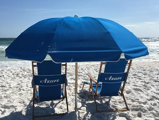 Best unit at Azure! Free Beach set for 4 included! We treat you like royalty!