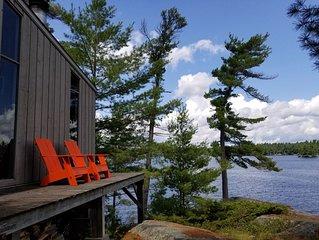 Idyllic Modern Cottage on Roxborough Island, Best Views on Stoney Lake