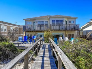 Oceanfront directly on the beach! Lots to do in Fernandina Beach.