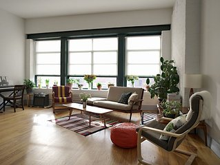 Large NYC Home/Condo Loft with Skylights, Central AC, High Ceilings