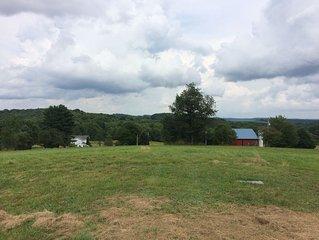 Peaceful Quaint Old Farm House & Barn on 45 acres of fields & woods