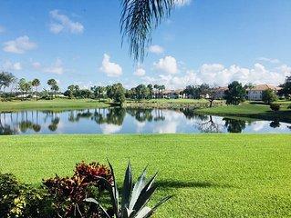 3 bed 2 bath villa. Public golf course, beautiful views, 10 miles to the beach.