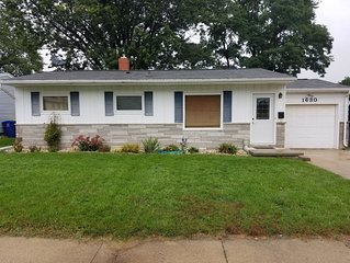 Nicely updated home 1 mile from Lambeau field in a very quite neighborhood.