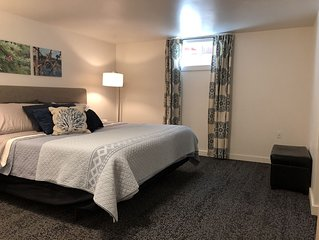 Newly renovated large one bedroom apartment. Private entry. Basement.