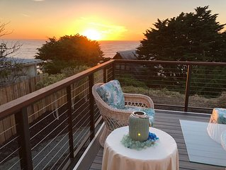 New Home w Expansive Ocean and Sunset Views, Steps to the Private Beach