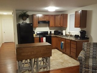 Family and business friendly, private apartment, completely furnished