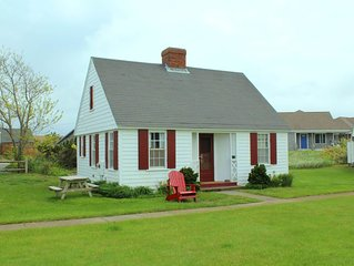 Stroll to Sandy Cape Cod Bay Beach from this Two Bedroom Classic Cottage