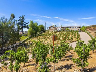 Secluded North County San Diego Private Estate Vineyard & Condo 1bedroom/1 bath