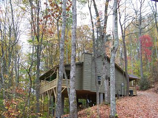 Luxuary Cabin secluded on 40 acres of Spectacular Mountain Wilderness.