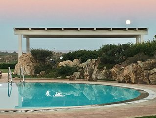 Garden House With Panoramic Sea View,Swimming Pool, 5 minutes from the beach