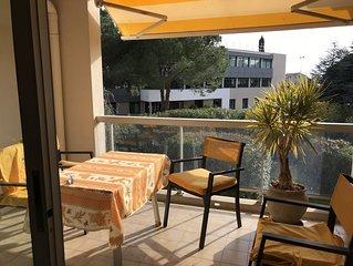 Apartment front beach garden pool Cagnes sur Mer Côte d'Azur