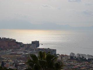 Casa del Cedro appartamento superior con  giardino privato  sul Golfo di Napoli.