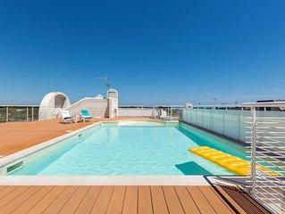 Lussuoso appartamento con piscina sul mare d'Otranto