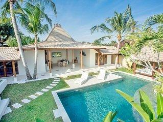 ❤$100 Canggu | 3BR | STAFF | 12m Pool | Sundeck | PETANQUE AREA | 9 mins BEACH