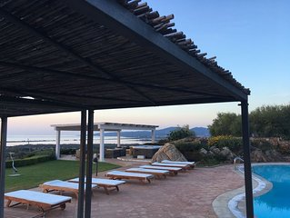 No.6.Free Wifi, Pool. Panoramic Sea View,5 minutes from the beach