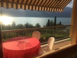 Appartamento con 2 camere e splendida vista Lago