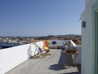 Nel Blu,  attico e terrazza con vista mozzafiato su mare e cielo