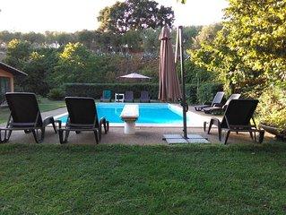 appartamento in villa con piscina sulle colline di Roma