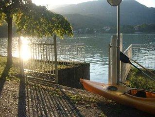 Appartamento indipendente con giardino direttamente sul lago di Avigliana.
