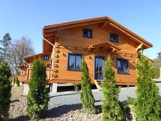 5 Sterne Blockhaus mit Sauna + Kamin im Alpen - Chalet - Stil, Panorama 'Hütte'