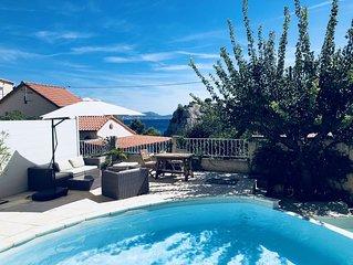 Calanque de Niolon : Loft piscine vue mer