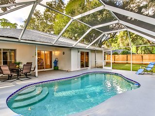 Tropical Getaway. 3/2 , heated pool, 15 min. from beach.  Near Indian River