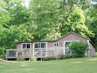 3 BR Cabin Surrounded by Pines on Fishing/Swimming Lake
