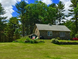 Cozy Stone Cottage Home in the Catskills (Narrowsburg, NY) on 30 private acres