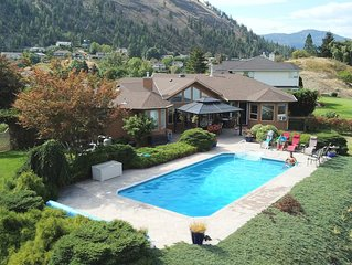 Panoramic lake views with private (heated) pool !! Type 2 EV Charger available!