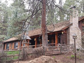 Great 2300 sq. ft. cabin in the pines....2 miles from the lake.  Enjoy 4 acres