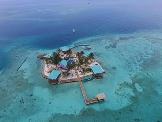 Entire Island Rental - Private Caribbean Belize Caye 28 guests
