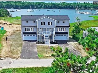 Beautiful new home in Camp Ellis - spectacular water views and steps to beach
