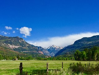 5-star high-mountain ranch getaway flanked by San Juans along Uncompaghre River