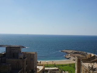 FREE AIRPORT PICK UP beautiful sea view Apt,in the heart of Alexandria