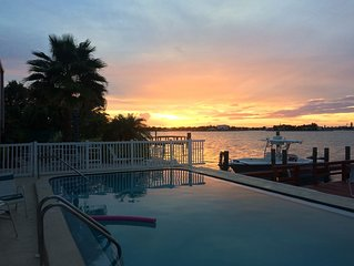 Waterfront Beach Lovers Dream, Boaters Paradise with Boat Dock, Seaside  Pool.