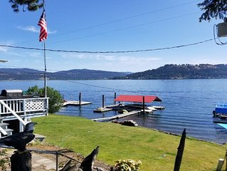 Couer D'Alene Lake Cabin with boat slip (directly across from Harrison Resort)!
