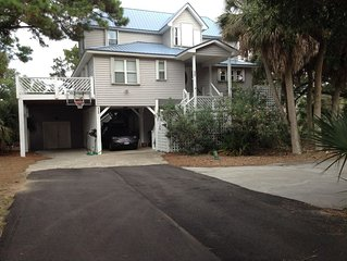 Private 4 bedroom home near beach and on golf course