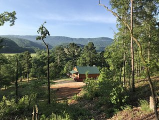 Hot Tub** Secluded Ozark MT Cabin on 12 acres across from river