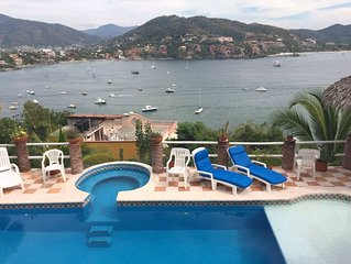 View the Zihuatanejo  Bay action with amazing serenity