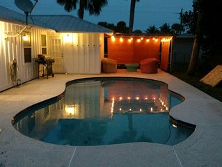 Pet friendly, comfortable, clean home with private pool close to four beaches