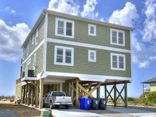 Oceanfront 7 BR, 6.5 BA  Awestruck home with ELEVATED POOL & Elevator/Sleeps 21