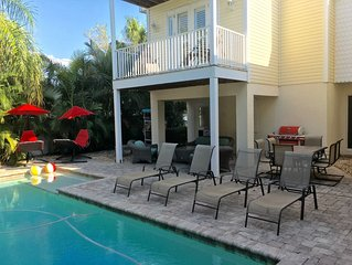 Sensational Single Family Vacation Beach House in Homes Beach Anna Maria Island