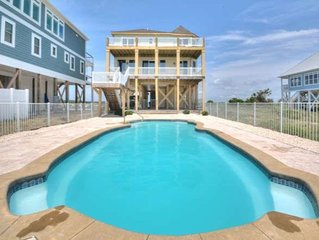 Breathtaking 7 BR/6 BA Oceanfront Home w/38 x 15 Private Pool-PETS-Sleeps 16