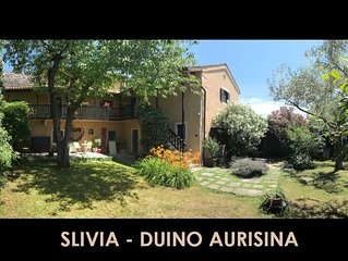 A spacious historic 3 Bedroom Villa minutes from beach and Duino Castle
