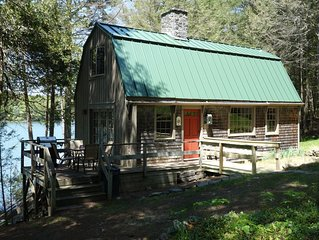 Westport Island Cabin on the river with private dock. Drive, boat or fly in.