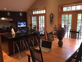 Charming Mountain Retreat Lg Modern Kitchen on Stream w Fire-pit