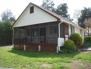 Clean, updated 2-bedroom cottage w/ gorgeous Norfork lake view & screened porch