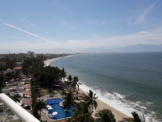 MODERN LUXURIOUS BEACH FRONT CONDO,  overlooking       Banderas Bay at Bucerias