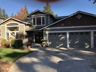 Upper floor of our home in beautiful Edmonds. Great for families or 2 couples.