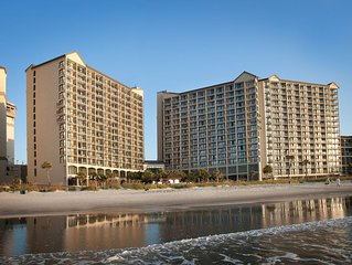 Oceanfront 2 Bedroom Condo w/Amazing View + Official On-Site Rental Privileges
